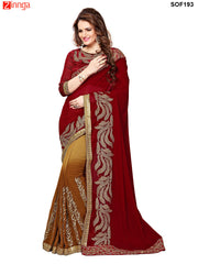 SRP FASHION-women's Beautiful Georgette saree   - SOF193