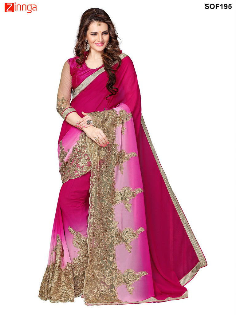 SRP FASHION- women's Beautiful Georgette saree   - SOF195