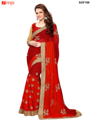 SRP FASHION- women's Beautiful Georgette saree   - SOF196