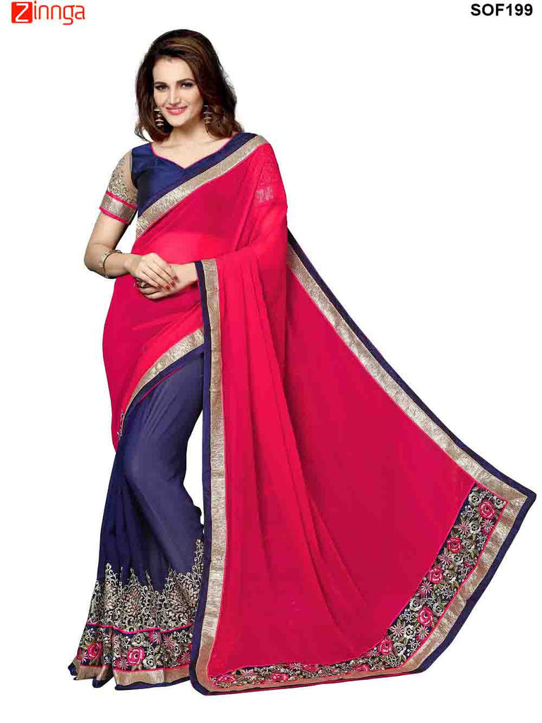SRP FASHION- women's Beautiful Georgette saree   - SOF199