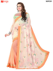 SRP FASHION women's Beautiful Georgette saree   - SOF201