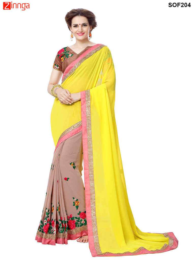 SRP FASHION- women's Beautiful Georgette saree   - SOF204