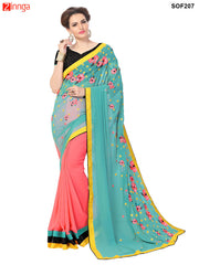 SRP FASHION- women's Beautiful Georgette saree   - SOF207