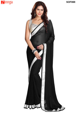 SRP FASHION- women's Beautiful Georgette saree  - SOF69