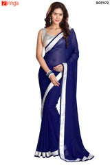 SRP FASHION- women's Beautiful Georgette saree  - SOF72