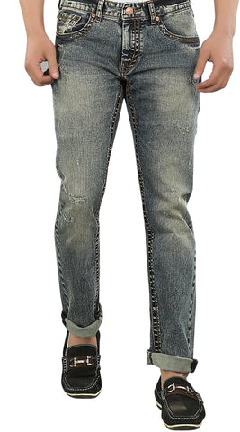 Blue Color Cotton Lycra Men's Jeans - SPJN023