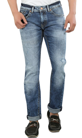 Blue Color Cotton Lycra Mens Jeans - SPJN029