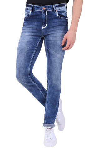 Blue Color Cotton Lycra Men's Jeans - SPJN072