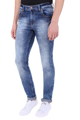 Buy Blue Color Cotton Lycra Mens Jeans