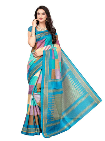 Multi Color Art Silk Saree - SRJ008