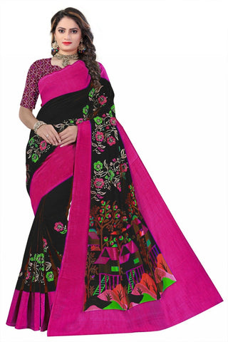 Black Color Soft Art Silk Saree - SRP-108Black
