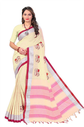 Yellow Color Linen Cotton Saree - SRP-112Yellow