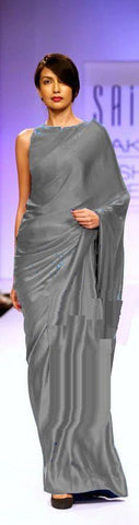 Grey Color Satin Saree - SRP-14SatinGray