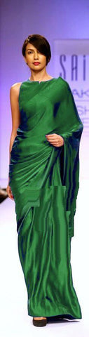 Green Color Satin Saree - SRP-14SatinGreen