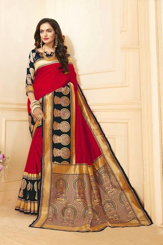 Red Color Art Silk Saree - SRP-15-AS-Red