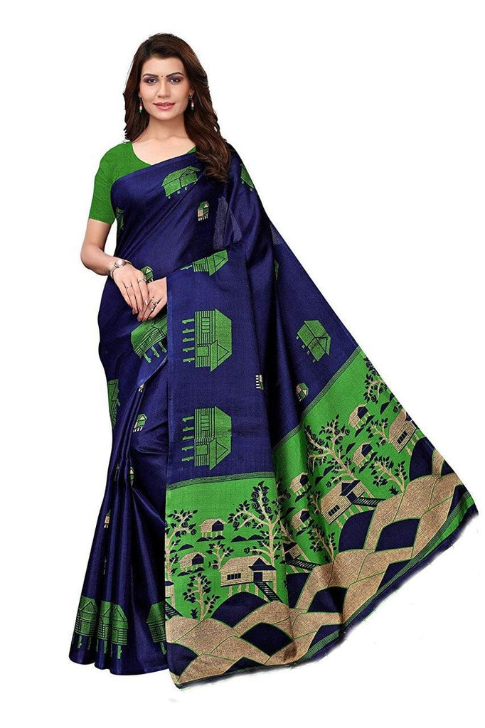 Buy Blue Color BhagalPuri Saree