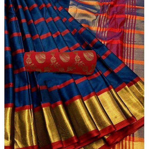 NevyBlue Color  Cotton Silk Saree - SRP-255NevyBlue