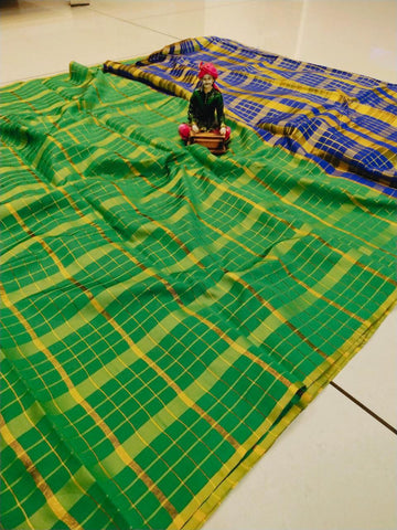 Green Color Uppada Checks Saree - SRP-256 Green