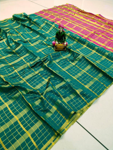 Rama Color Uppada Checks Saree - SRP-256 Rama