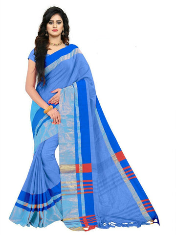 Blue Color Linen Saree - SRP-97Blue