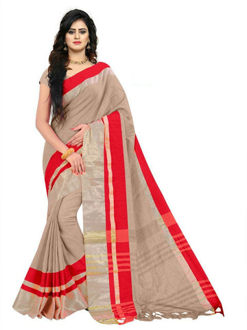 Cream Color Linen Saree - SRP-97Cream