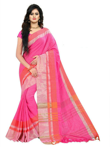 Pink Color Linen Saree - SRP-97Pink