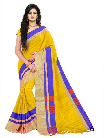 Yellow Color Linen Saree - SRP-97Yellow