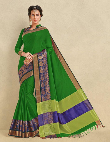 Green Color Pure Cotton Silk Saree - SRP-ARIANNA Green