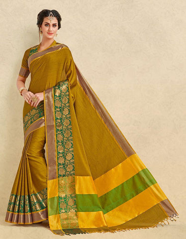 Yellow Color Pure Cotton Silk Saree - SRP-ARIANNA Yellow