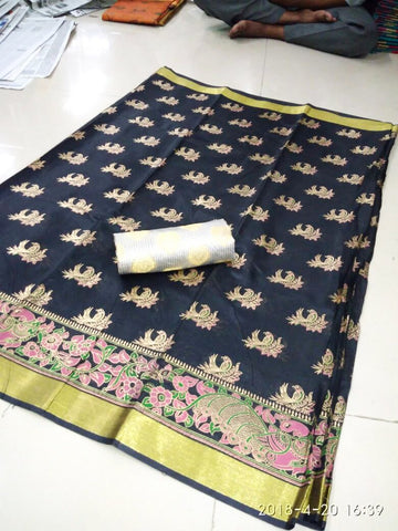 Black Color Poly Silk Saree - SRP-Ajanta Black1