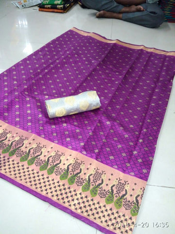 Rani Color Poly Silk Saree - SRP-Ajanta Rani1