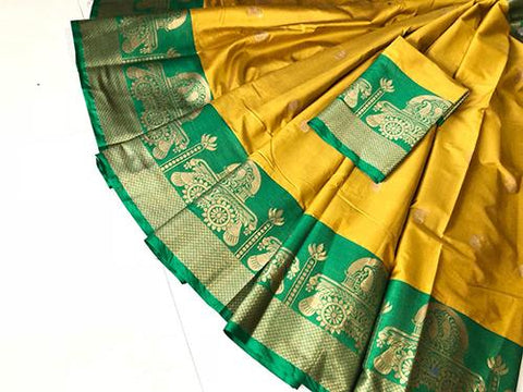 Yellow Color Pure Silk Cotton Saree - SRP-Akshita Yellow