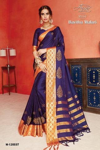 Purple Color Pure Silk Cotton Saree - SRP-Bavitha Malari Purple