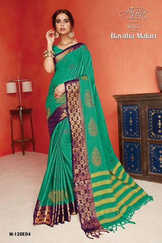 SeaGreen Color Pure Silk Cotton Saree - SRP-Bavitha Malari Sea Green