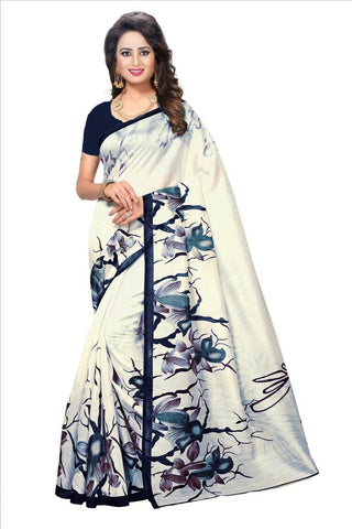 Blue Color Bhagalpuri Saree - SRP-Blue Rose