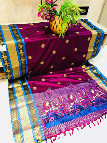 Violet Color Pure Silk Cotton Saree - SRP-ChaitraViolet
