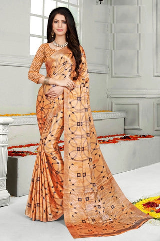 Orange Color Mul Mul Satin Saree - SRP-Dharati-1 Orange