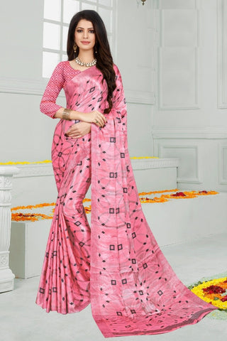 Pink Color Mul Mul Satin Saree - SRP-Dharati-1 Pink