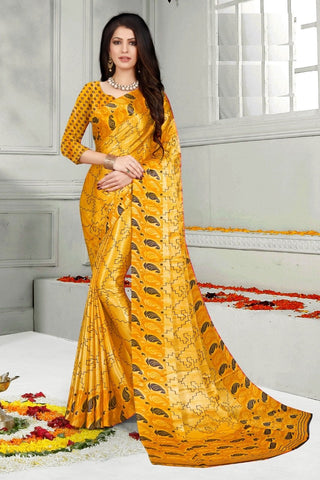 Yellow Color Mul Mul Satin Saree - SRP-Dharati-2 Yellow