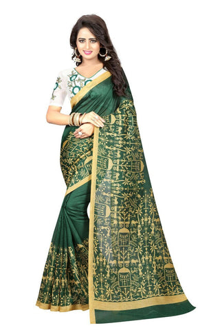 SRP FASHION-Green Color Chappa Silk  Saree- SRP-GreenHouse