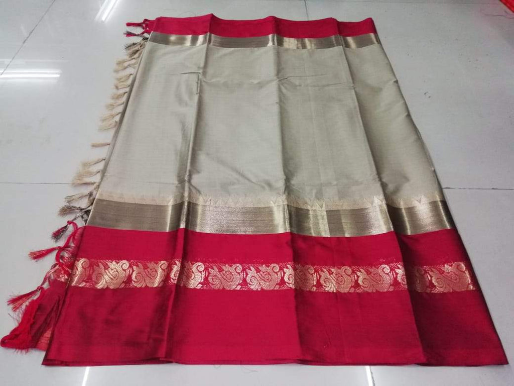 Buy Beige Color Pure Soft Doddy Jacquard Silk Saree