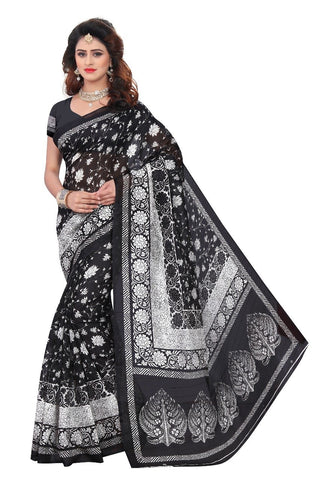 Black Color Heavy Bhagalpuri Saree - SRP-Jamana Black