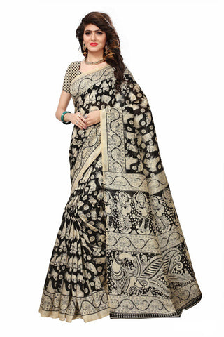 Black Color Bhagalpuri Saree - SRP-Kiyu Black
