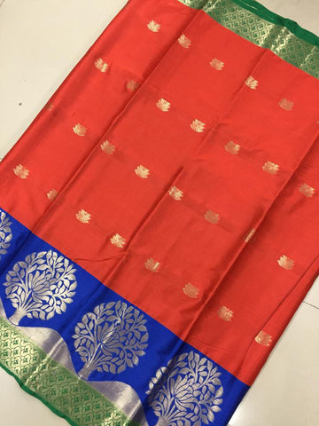 Orange Color Soft Cotton Silk Saree - SRP-KrishnaButtaOrange