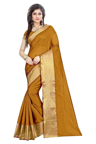 Gold Color Cotton Silk Saree - SRP-LPB-Gold