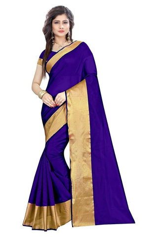 Purple Color Cotton Silk Saree - SRP-LPB-Purple