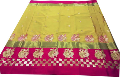 Yellow Color Pure Soft Cotton Silk Saree - SRP-Mayur Picnic Yellow
