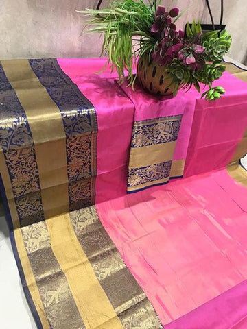 Pink Color Pure Silk Cotton Saree - SRP-Mishka Pink