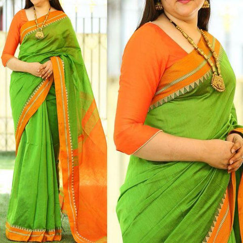 Green Color Bhagalpuri Saree - SRP-Misty Green