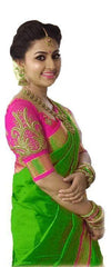 Green Color Bhagalpuri Cotton Saree